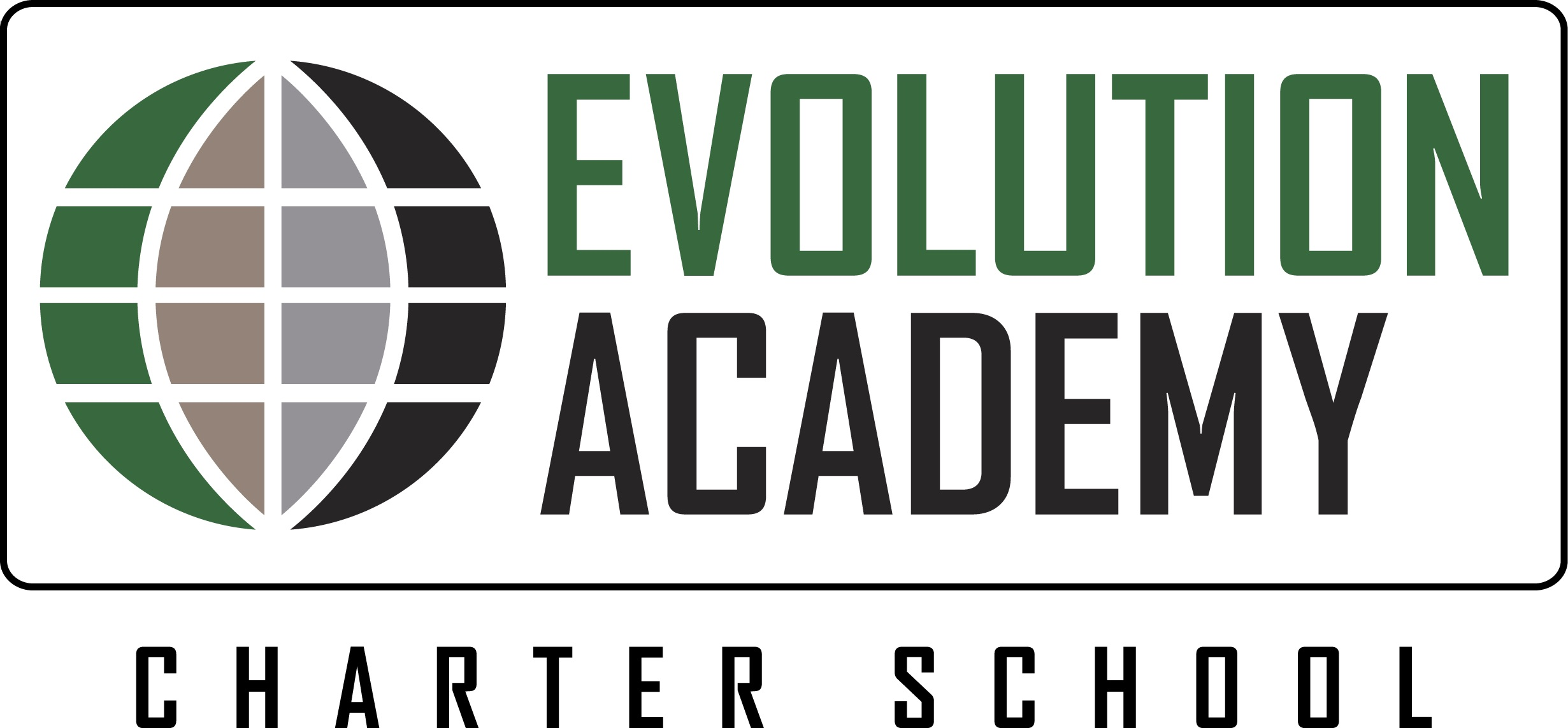 Evolution Logo Green Silver Black